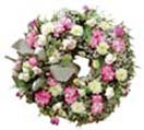Wreath with Aster flowers for Condolence to Chennai Delivery
